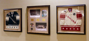 Framed All Star Game Memorabilia at the Xcel Center