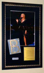 Framed Barbra Streisand Concert Memorabilia at the Xcel Center