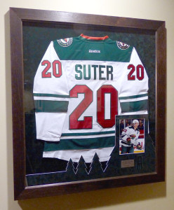 Framed Suter Jersey at the Xcel Cener
