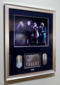 Framed Eagles Concert Memorabilia at the Xcel Center
