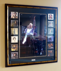 Framed Neil Diamond Photo & CD's at the Xcel Center