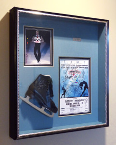 Framed Scott Hamilton Skate at the Xcel Center