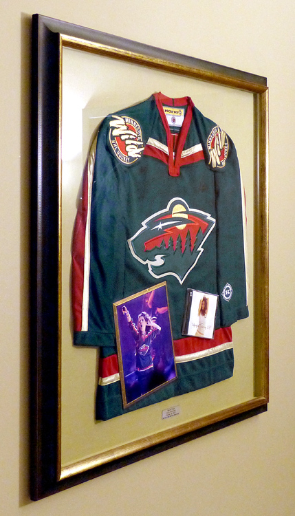 best sneakers 3cea7 2b36f Framed Shania Twain signed MN Wild Jersey at the Xcel Center ...
