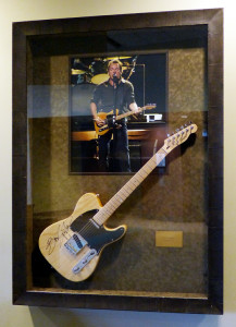 Framed Bruce Springsteen Guitar at the Xcel Center