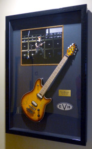 Framed Van Halen Guitar at the Xcel Center