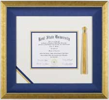 Diploma Frames at Kelley Gallery Art & Frame in Hudson, Roberts WI & Woodbury, MN