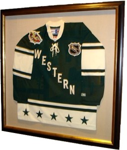 Framed Western Conf. Jersey at the Xcel Center