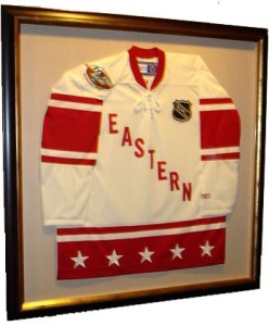Framed Eastern Conf. Jersey at the Xcel Center