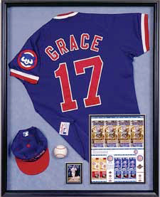 Sports Memorabilia Frames at Kelley Gallery Art & Frame in Hudson, Roberts WI & Woodbury, MN