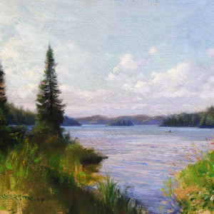 Canoeing on West Bearskin Lake by Scott Lloyd Anderson, Kelley Gallery Art & Frame in Hudson, Roberts WI & Woodbury, MN