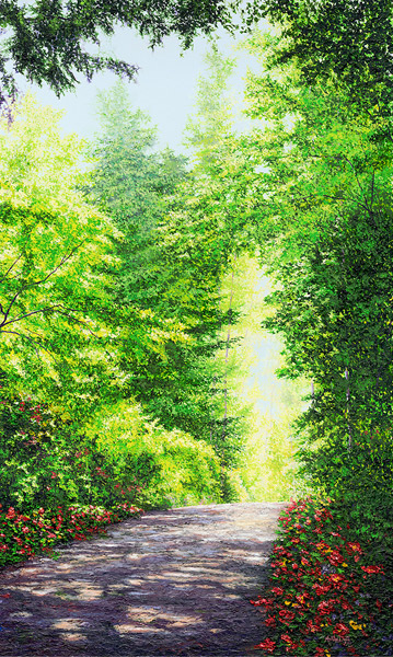 Walk in Peace by Ashley Dull, Giclee Canvas