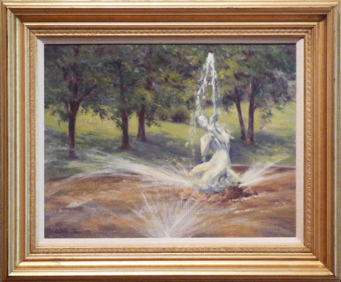 Como Park Fountain by CeCeile Hartleib, 20x16 Oil