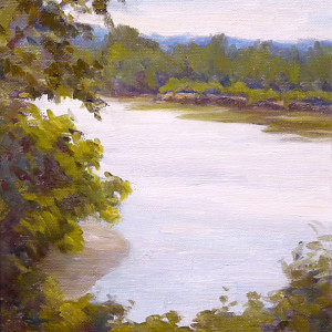 Minnesota River View by CeCeile Hartleib, 10x8 Oil