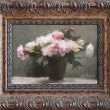 Gray Peony Sketch by Richard Kochenash, 7x5 Oil