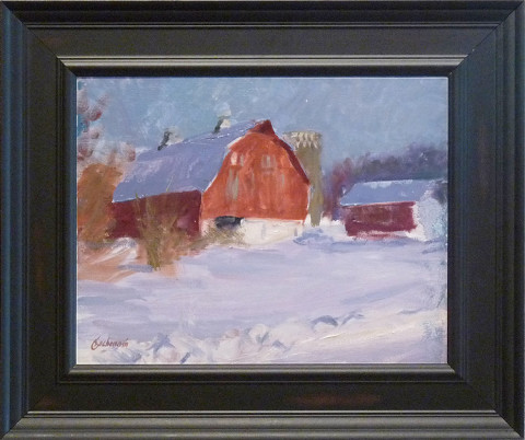Just Off Bluff Drive by Richard Kochenash, 14x11 Oil
