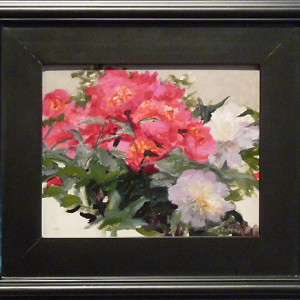 Peony Vignette by Richard Kochenash, 10x8 Oil