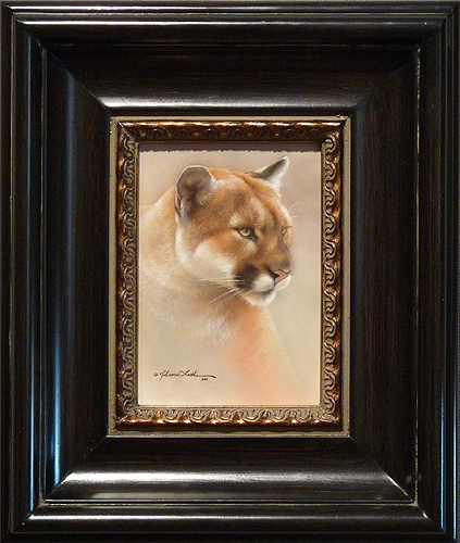 Intensity- Cougar by Rebecca Latham, 5x7 Watercolor