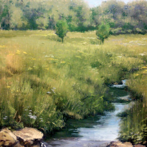 Meadow Creek by Patricia Duncan 8x10 Oil
