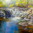 Secret Falls by Lynda Peterson, 30x24 Oil