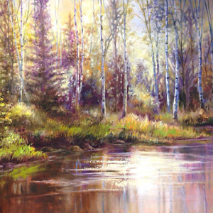 Shades of Autumn by Lynda Peterson, 40x30 Oil