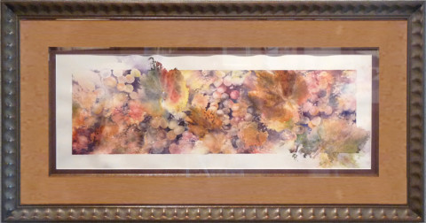 Almost Merlot by Julie Schroeder, 11.5x30 Watercolor