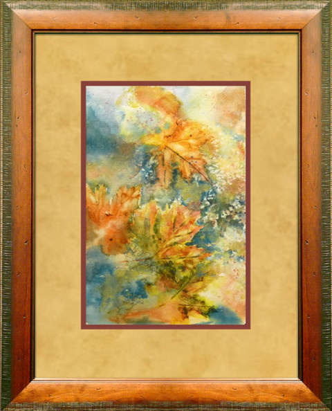 Dancing Leaves I by Julie Schroeder, 7.5x11 Watercolor