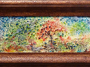 Dreamscape by Julie Schroeder, 19x6 Encaustic