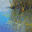 Papago Pond by Lisa Stauffer, 12x12 Pastel