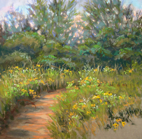 Prairie Path II by Lisa Stauffer, 12x12 Pastel