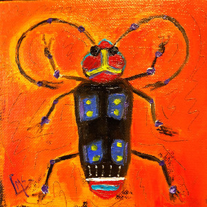 Beetle by Laurie Swanson, 6x6 Oil