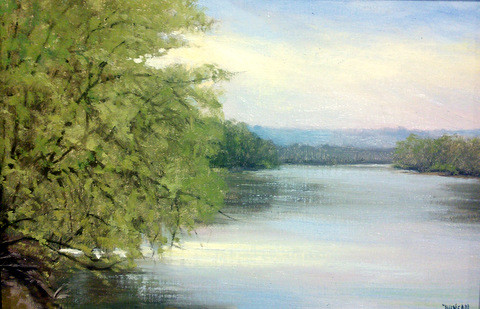 Afternoon on the River 12x8 Oil $395