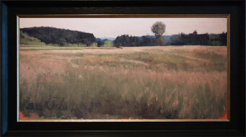 After the Storm- Above Brown's Creek by Ben Bauer, 36x18 Oil, Framed