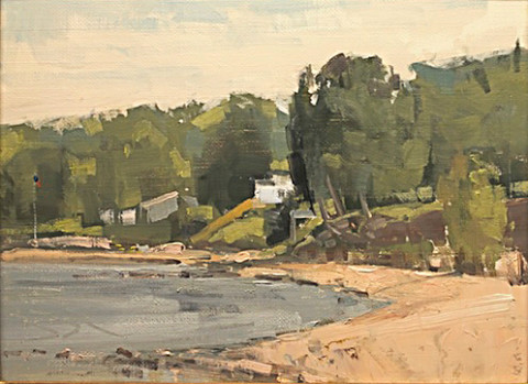 Baileys Harbor Shorefront by Ben Bauer, 12x9 Oil, Framed