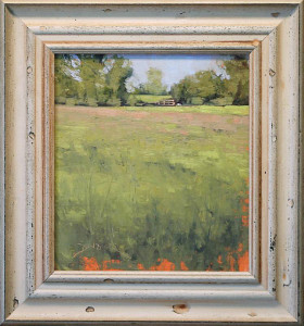 June Sketch by Ben Bauer, 9x10 Oil, Framed | Kelley Galleries
