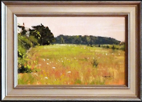 Meadow View by Ben Bauer, 14x9 Oil, Framed