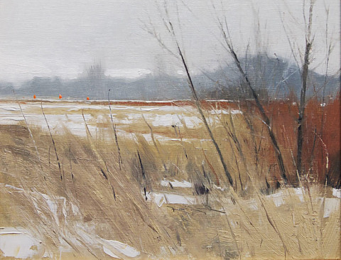 Walking for Pheasants by Ben Bauer, 10x8 Oil, Framed