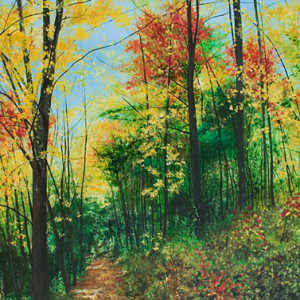 Fall into the Path Provided by Ashley Dull, Giclee Canvas