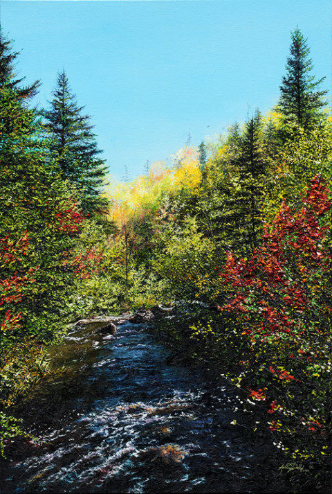 Life's Flowing Water by Ashley Dull, Giclee Canvas