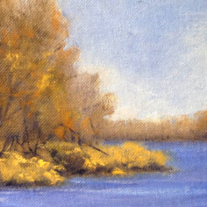 Early Fall Bone Lake 5x7 Framed