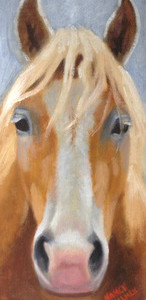 Arthur by Nanci Fulmek 5x11 Oil Framed, Kelley Gallery Art & Frame in Hudson, Roberts WI & Woodbury, MN