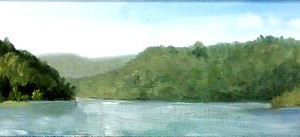 Rivers Bend on the St. Croix 23x4.5 Oil Framed
