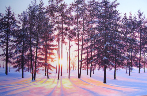 Peace on Earth IV by Ashley Dull, 36x24 Oil