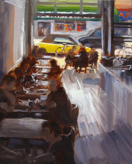 Cafe by Scott Lloyd Anderson, 8x10 Oil