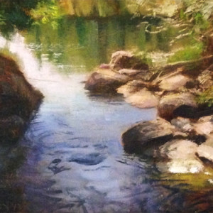 Sunny Stream by Scott Lloyd Anderson, 11x7 Oil
