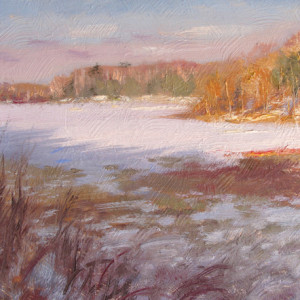Winter Late Afternoon by Scott Lloyd Anderson, 10x8 Oil