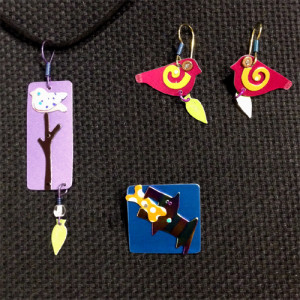 Necklace, Earrings, & Pins by Barbara Lager