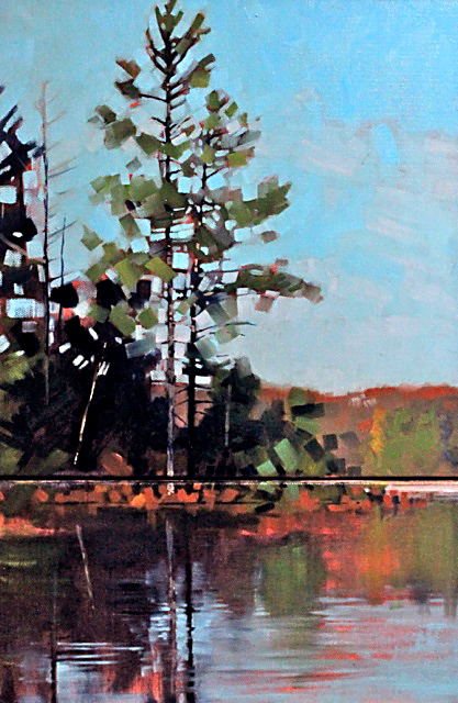 Long Island Reflection by Reid Thorpe, 12x18 Oil
