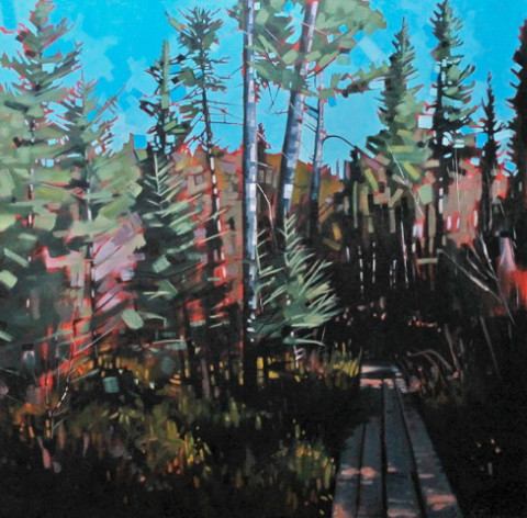 Otter Lake Bog by Reid Thorpe, 36x36 Oil
