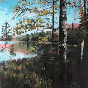 Otter Lake Series #2 by Reid Thorpe, 40x48 Oil
