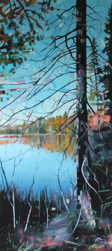 Otter Lake Series #3 by Reid Thorpe, 22x48 Oil